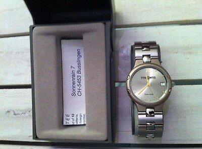 Uhr Watch Timonta swiss made steel, water resistant 3ATM, functions not tested
