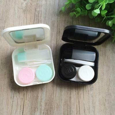 Hard Holder Container Box Cute Contact Lens Case Cute Travel Storage Soak Kit