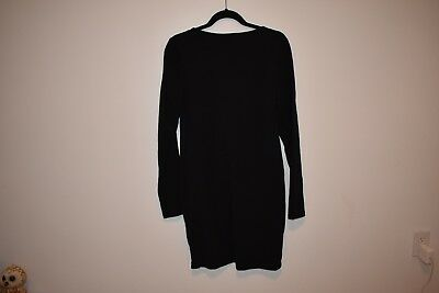 H&M Women's Black Long Sleeve Dress Size LARGE NEW NWT