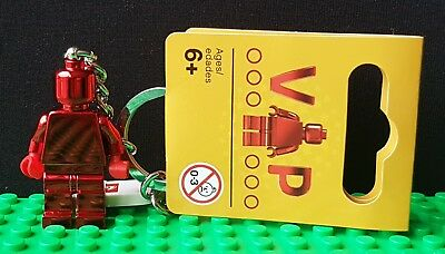 LEGO Exclusive VIP Red Chrome 2017 LEGO Keyring UK SELLER Brand New 5005205