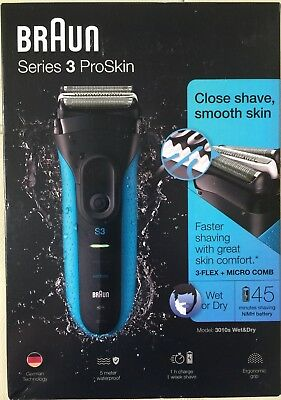 Braun 3010S Pro-Skin Cordless Electric Shaver Wet&dry Micro Comb Worldwide🚚🇬🇧