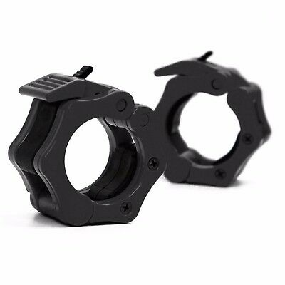 """50mm 5cm 2"""" Olympic Dumbbell Barbell Bar Clamps Locking Collars Clips Pair"""