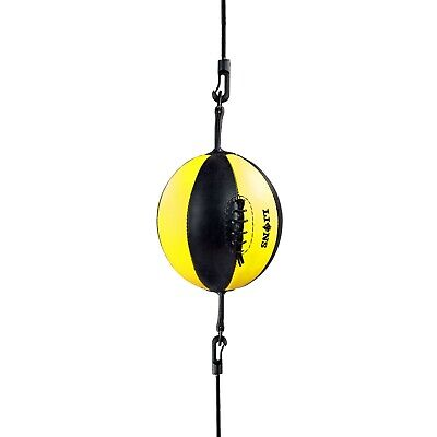 Double End Speedball Dodge D Shape Ball Punch Bag Training MMA Punching + Ropes