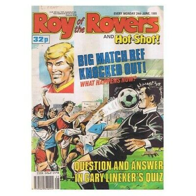 Roy of the Rovers Comic June 24 1989 MBox2796 Big match ref knocked out! What ha