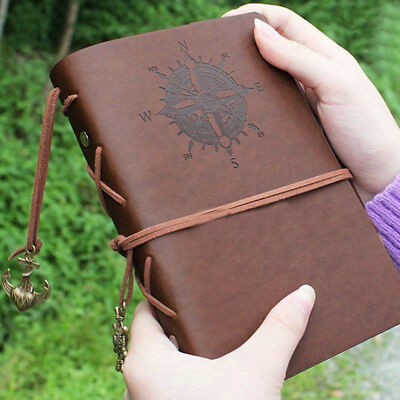 Vintage Retro Leather Journal Travel Notepad Notebook Blank Diary Sketchbook