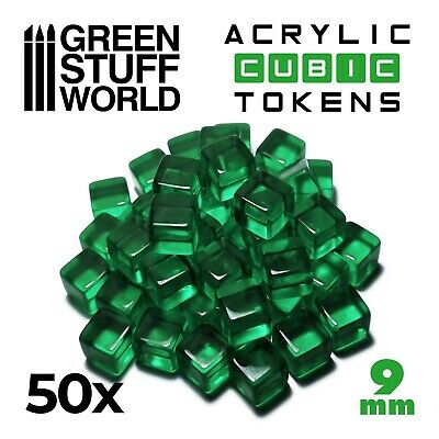 Cube Tokens GREEN - Markers, Resources, Materials - Tabletop & Card Board Games