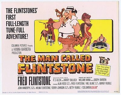 The Man Called Flinstone Original 1966 Lobby Cards Full Set Of 8 Excellent Condi