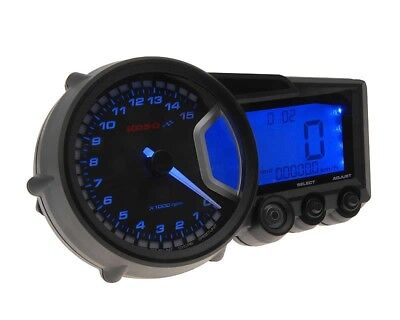Multifunktions-Tachometer Koso RX2 GP Style