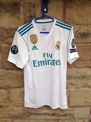 Brand New Real Madrid FC 2017/18 Adidas Home Shirt White Large