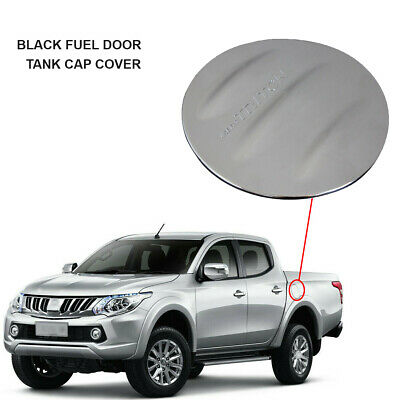 Mitsubishi L200 2005-2015 BLACK FUEL DOOR TANK CAP COVER LID *UK SELLER* - M156