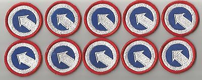 Lot Of 10 U.s.1St Field Army Support Command Patches-(M/p 1506)