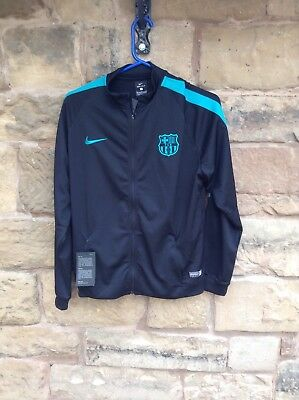 Brand New With Tags Barcelona FC 2017/18 Nike Anthem Jacket Black Youth XL 13/15