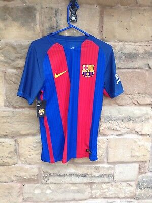 Brand New With Tags Barcelona FC 2016/17 Nike Home Shirt Blue/Red Men's Small