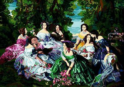 SEG de Paris Tapestry/Needlepoint Canvas – Eugenie and her Ladies-in-Waiting