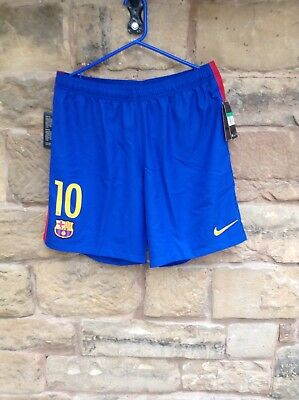 Brand New With Tags Barcelona FC 2016/17 Nike Home Shorts Blue/Red Men's XL