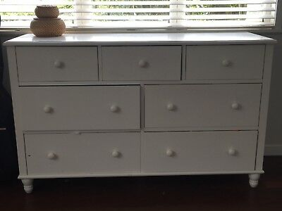Chest of drawers, white