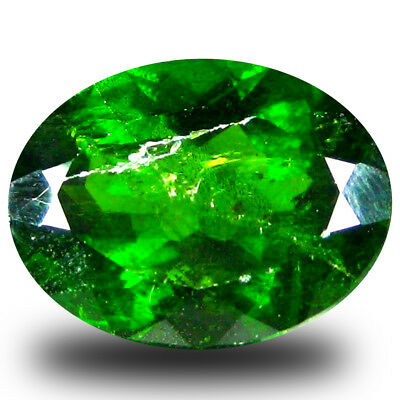 4.07 ct  Topnotch Oval Shape (12 x 9 mm) Green Chrome Diopside Natural Gemstone