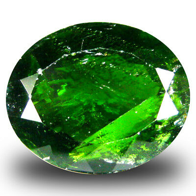 6.41 ct  Dazzling Oval Shape (13 x 11 mm) Green Chrome Diopside Natural Gemstone