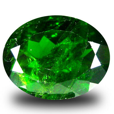 7.11 ct  Gorgeous Oval Shape (14 x 11 mm) Green Chrome Diopside Natural Gemstone