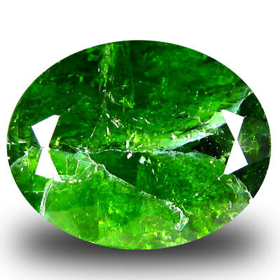 6.74 ct  Wonderful Oval Shape (13 x 11 mm) Green Chrome Diopside Gemstone
