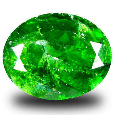 6.02 ct  Stunning Oval Shape (13 x 11 mm) Green Chrome Diopside Natural Gemstone