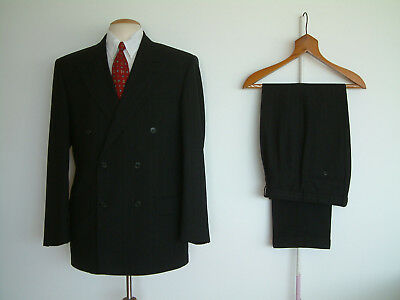 "1940's STYLE SUIT..GOODWOOD..TWIN PLEATS..PTU's..HIGH WAISTED..40"" x 32""..DEMOB"