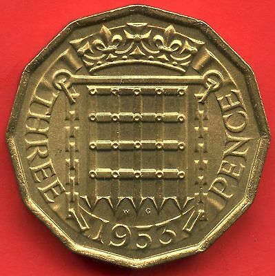 1953 Great Britain 3 Pence Coin