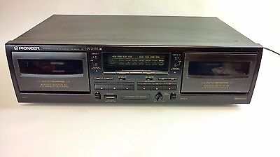 Pioneer CT-W205R Dual Cassette Tape Deck Recorder 1998 TESTED 100% Works Great!