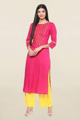 Indian Bollywood Style Kurtis Made From Pure Cotton Best Fitting All Sizes-33