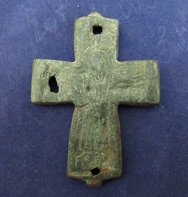 Beautiful Byzantine Half ENCOLPION CROSS 12-14th Century AD (104+)