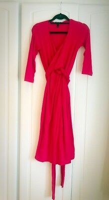 Isabella Oliver (Maternity) Hot Red Wrap Dress Size 1 (S)