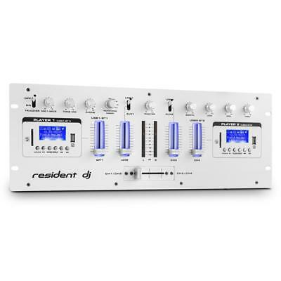 Professional 4-Channel Dj Karaoke Stage Mixer System 2X Bluetooth Usb Sd Aux