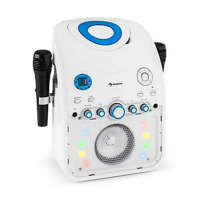Auna Starmaker Dj Pa Karaoke System Cd Bluetooth Aux Led Lighting Fx 2 X Mics