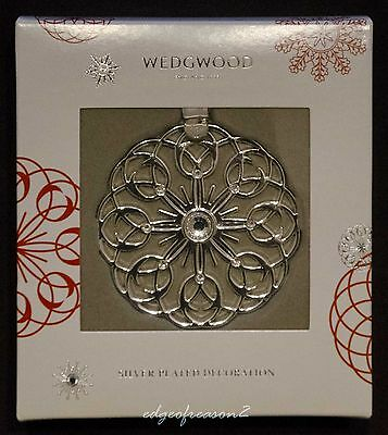 Wedgwood Christmas Silver Plated Filigree Snowflake Decoration  Bauble Ornament