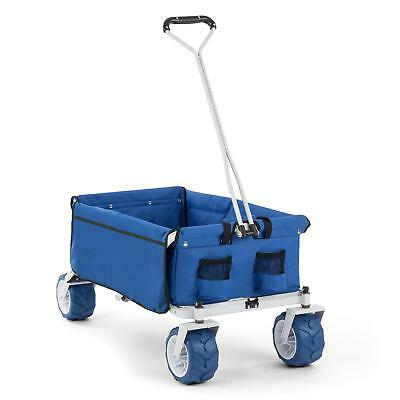 Waldbeck Blue Garden Patio Hand Cart Lawn Farm Yard Wheelbarrow 70Kg Heavy Load