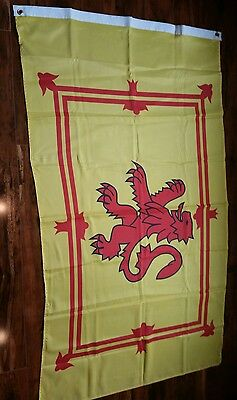 """The Lion Rampart Of Scotland - Beautiful Scottish Flag 33""""x 58"""" Great Color!"""