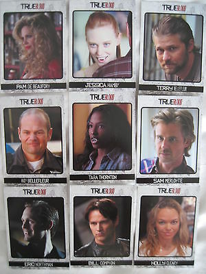 TRUE BLOOD ARCHIVES SET Complete 72 Cards Rittenhouse VAMPIRES TV 2013