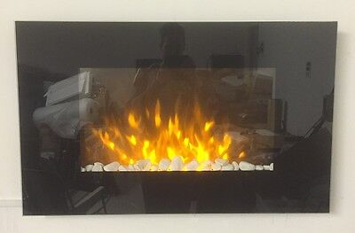 New 2017 Led Flame Effect Truflame Flat Wall Mounted Electric Fire