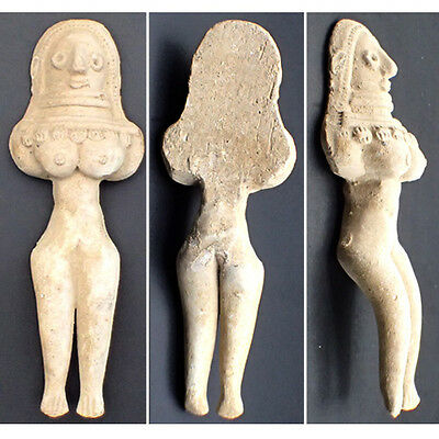 Ancient Teracotta Mother Goddess Fertility Indus Valley 600 BC #F55