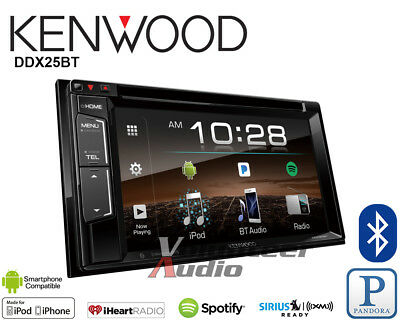 Kenwood DDX25BT Android Auto Apple CarPlay Double Din CD DVD Player