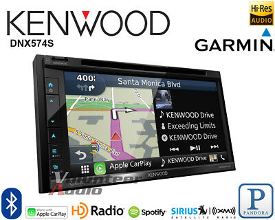 Kenwood DNX574S DDIN GPS Navigation Receiver Apple CarPlay Android Auto