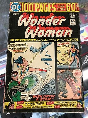 Wonder Woman #214 (VG) 4.0, Bronze Age DC, 100 Page Issue