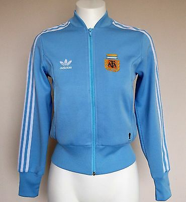Argentina Fifa World Cup Retro Jacket By Adidas Ladies Size 10 Brand New