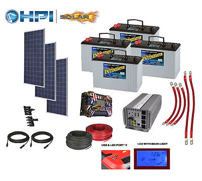 3360 Watt Solar Panel System -w/ 4 Batteries Complete Kit DIY