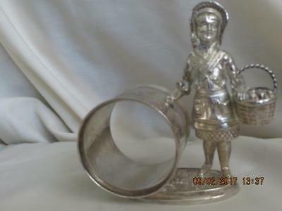 Little-Red-Riding-Hood #1492 1880's Silver-Plate-Napkin-Ring-Reed-and-Barton
