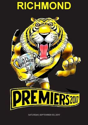 Richmond Tigers Black Premiers 2017 Sticker or Magnet