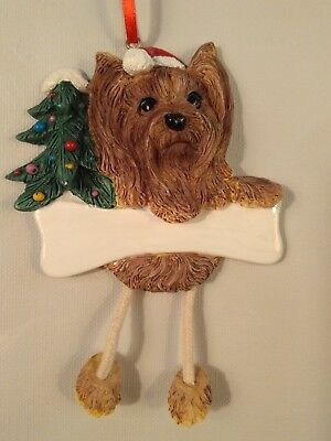 Yorkshire Terrier, Personalized Dog Ornament  *CUTE*