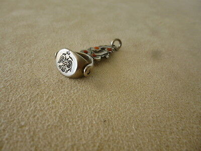 Antique Greek Ottoman Russian Islamic Rolling Silver Fob Wax Seal Eagle Stamp