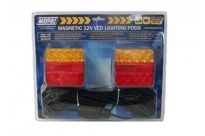 Maypole 12v Magnetic Led Lighting Pod With 10m Trailer Cable