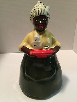 "Old McCoy Black American Jemima Cookie Jar 12.25"" Tall Almost Perfect"